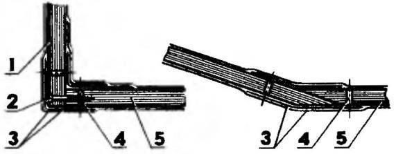 Примеры соединения элементов корпуса