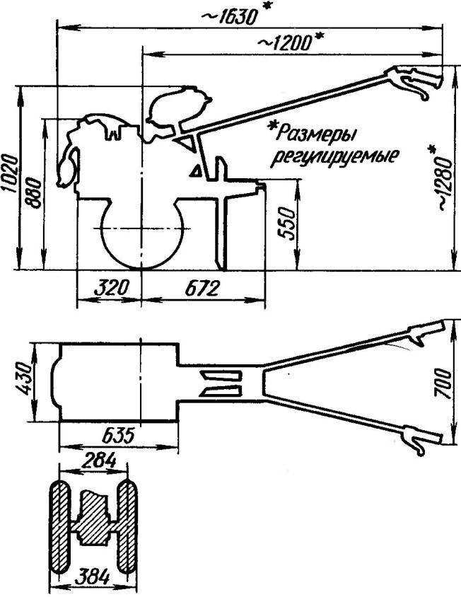 Адаптер для тяжелого мотоблока своими руками чертежи и размеры