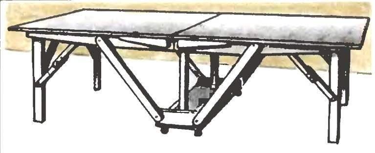 Складной теннисный стол