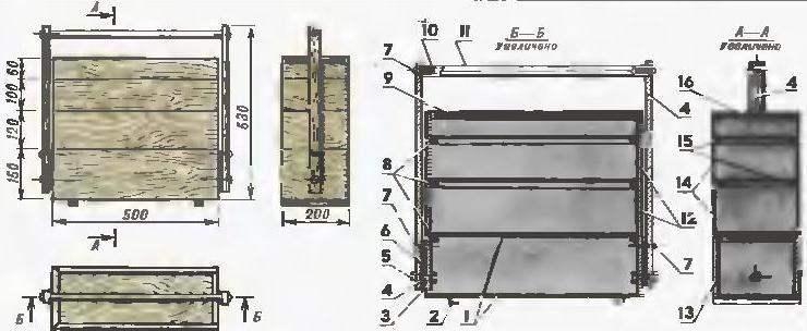 Детали ящика