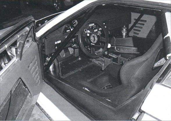 The front of the cabin of the Ferrari F40