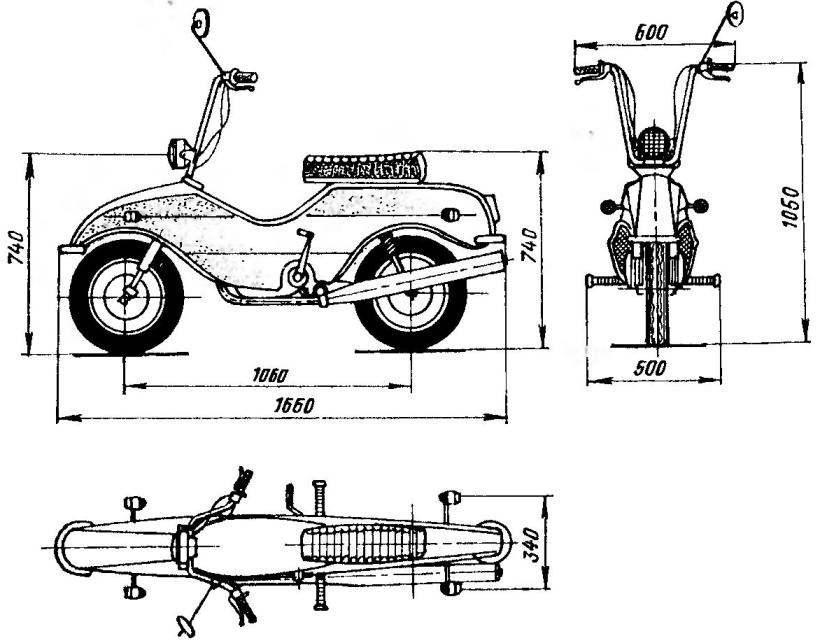 Снтн-байк с двигателем V-50