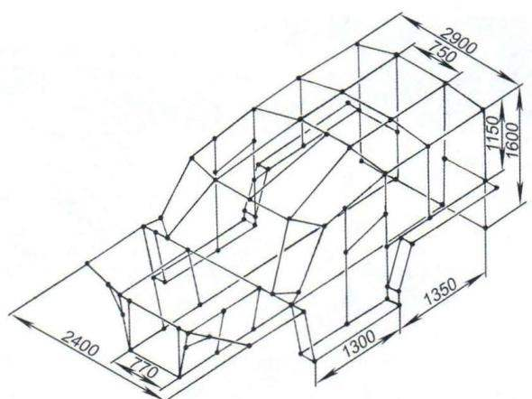 Схема каркаса кузова