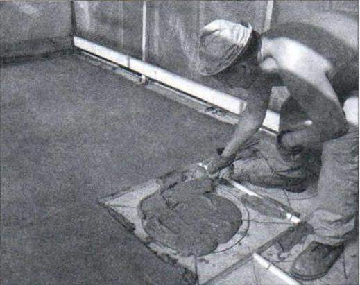 Покрытие пола песчаным бетоном