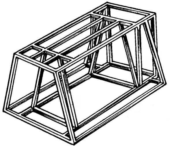 Fig.4. Assembled frame of a cellar without a roof