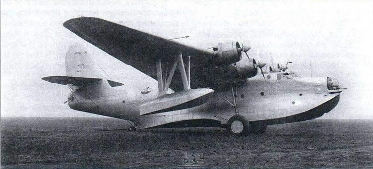 Второй опытный экземпляр морского тяжёлого бомбардировщика МТБ-2бис с двигателями М-87
