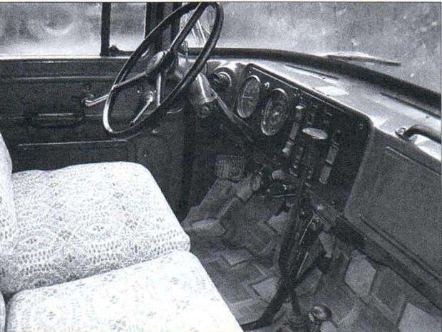 Интерьер кабины водителя
