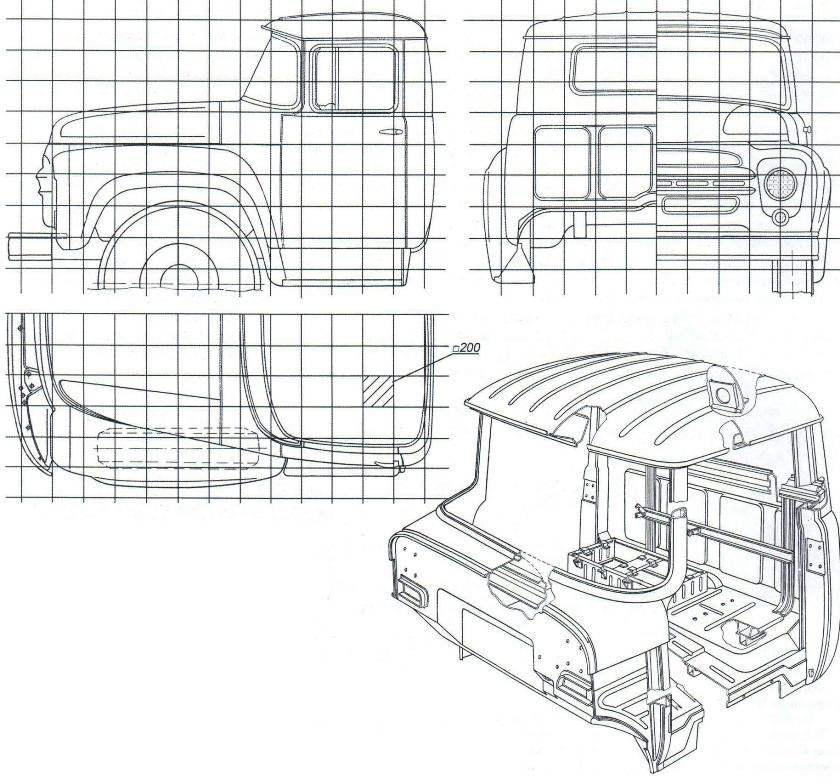 Кабина автомобиля ЗИЛ-130