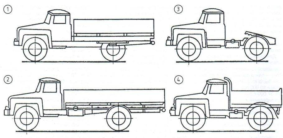 Основные модификации ЗИЛ-130