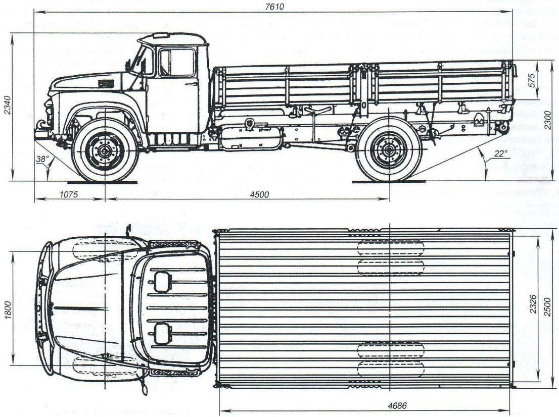 Пятитонный грузовой автомобиль ЗИЛ-130Г выпуска 1965 года