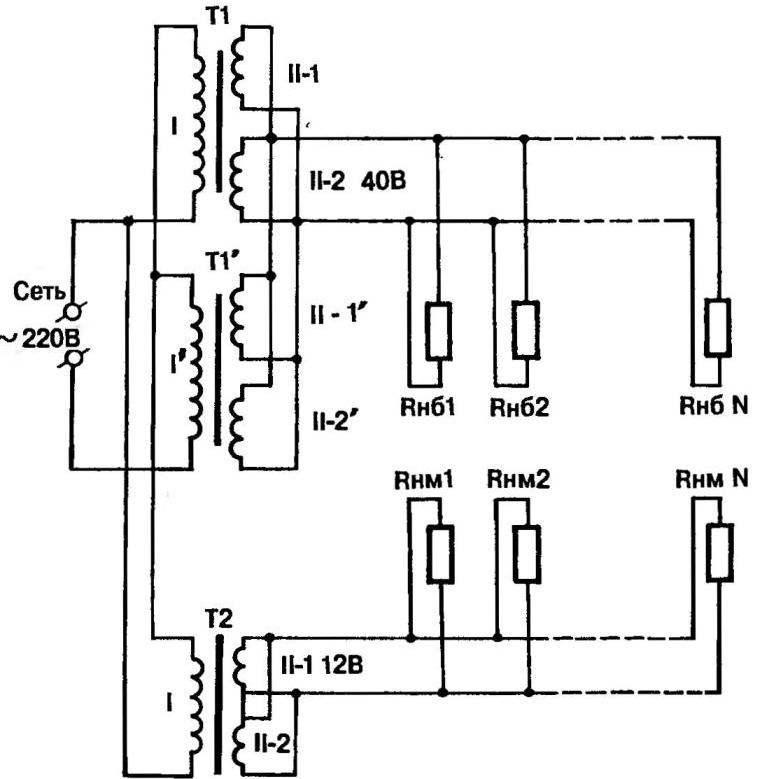 Принципиальная электрическая схема СКВУ