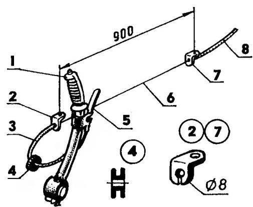 Механизм управления дроссельной заслонкой («газом») карбюратора