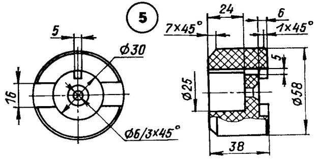 Компоновка деталей двигателя в картере