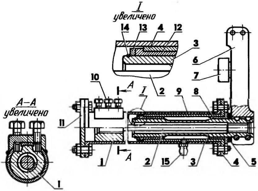 Доработанный торсионный узел прицепа БП-65: