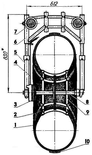 Вилка переднего колеса в сборе