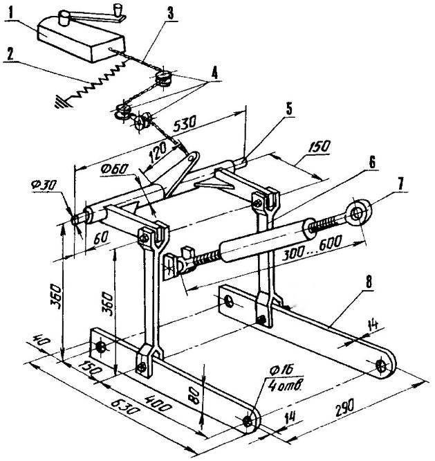 Навеска на минитрактор из мотоблока своими руками