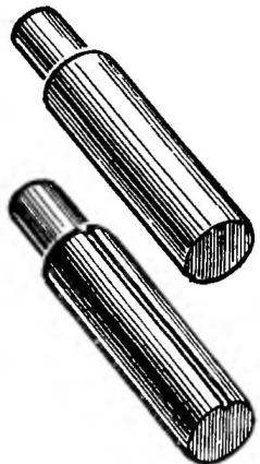 Simple cylindrical mandrel with a longitudinal groove.