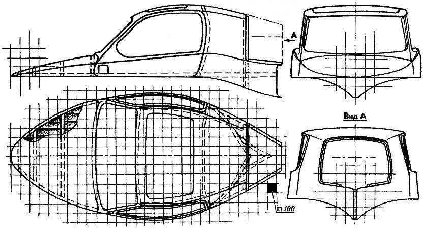 The design of the frame upper part of the body.