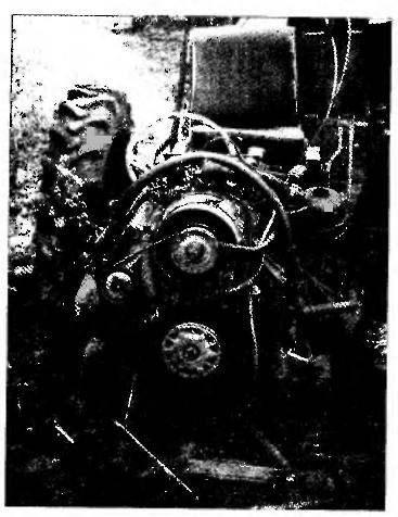 Вид на двигатель и рулевой механизм.