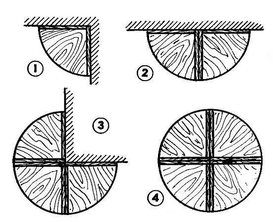 Схемы использования угловых секций в интерьере