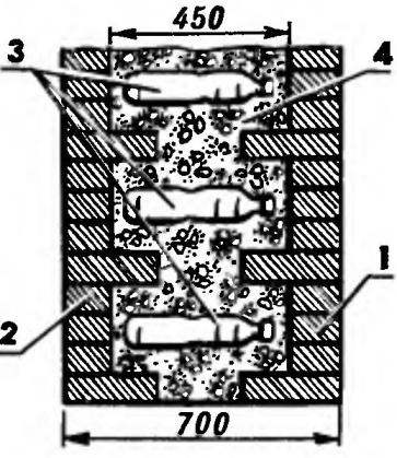 Рис.5. Фрагмент стены