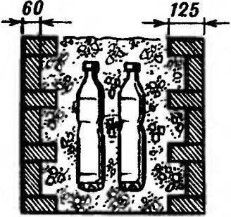 Рис.9. Вариант облегченной кирпичной кладки.