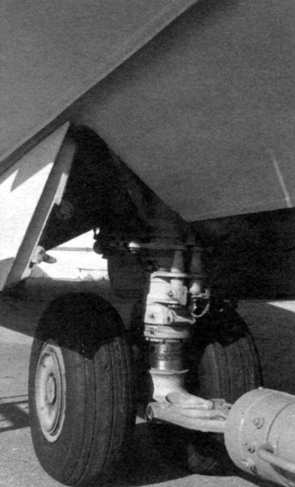 Bow (left) and main landing gear of the amphibian A-40
