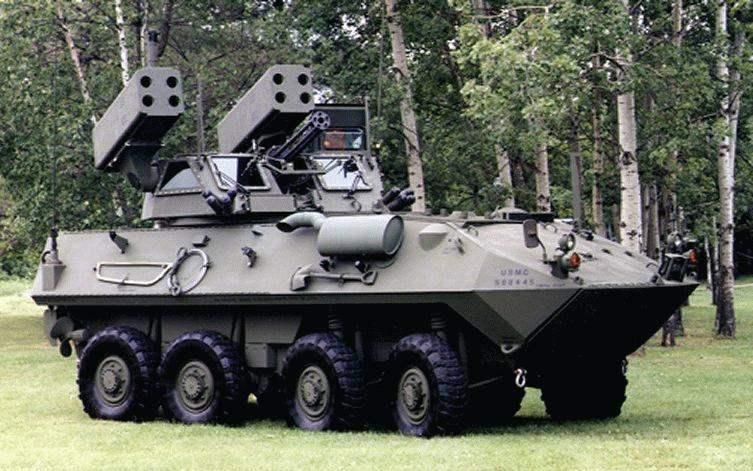 ББМП LAV-AD с зенитными ракетами Stinger
