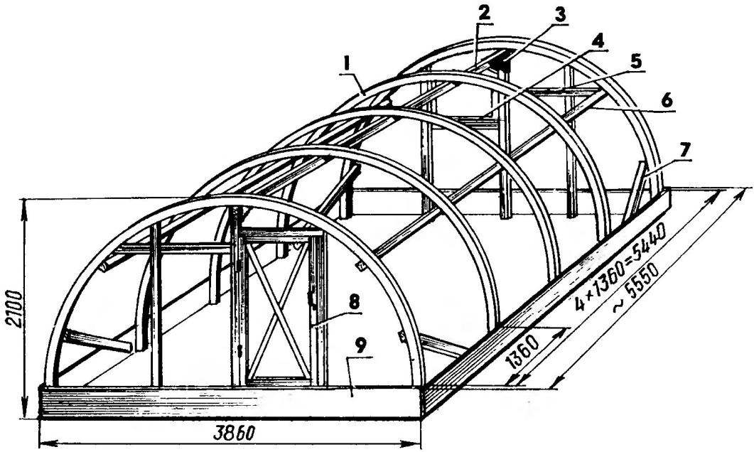 Frame arch greenhouses