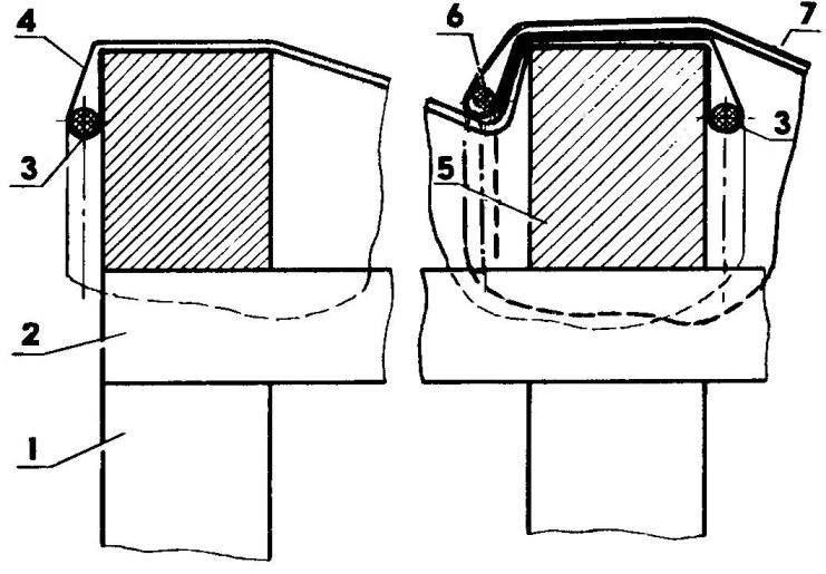 Начало обтяжки арочного свода двухслойной рулонной пленкой
