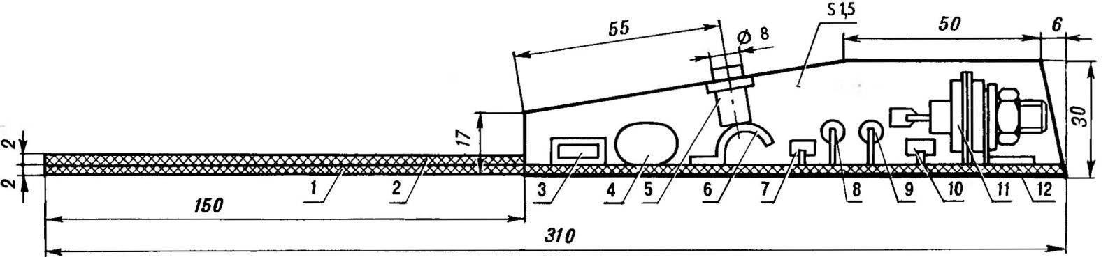 Сборочный чертеж электронной «спички»