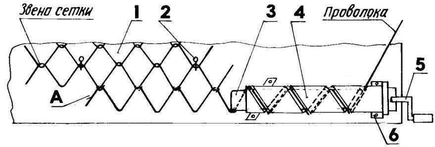 Приспособление для навивки сетки-рабицы вручную