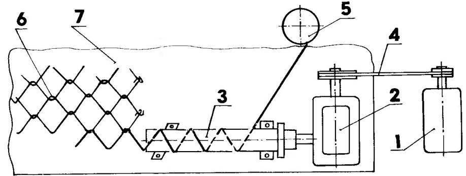 Механизированная установка для навивки сетки-рабицы