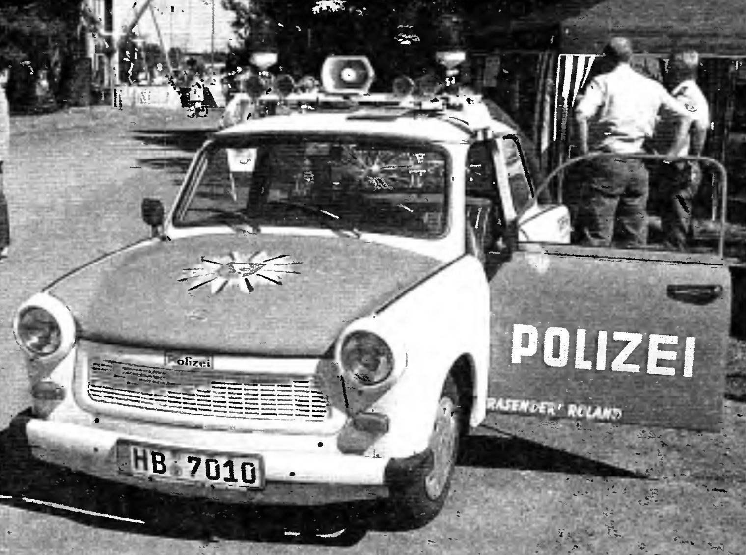 Полицейский вариант Trabant Р601