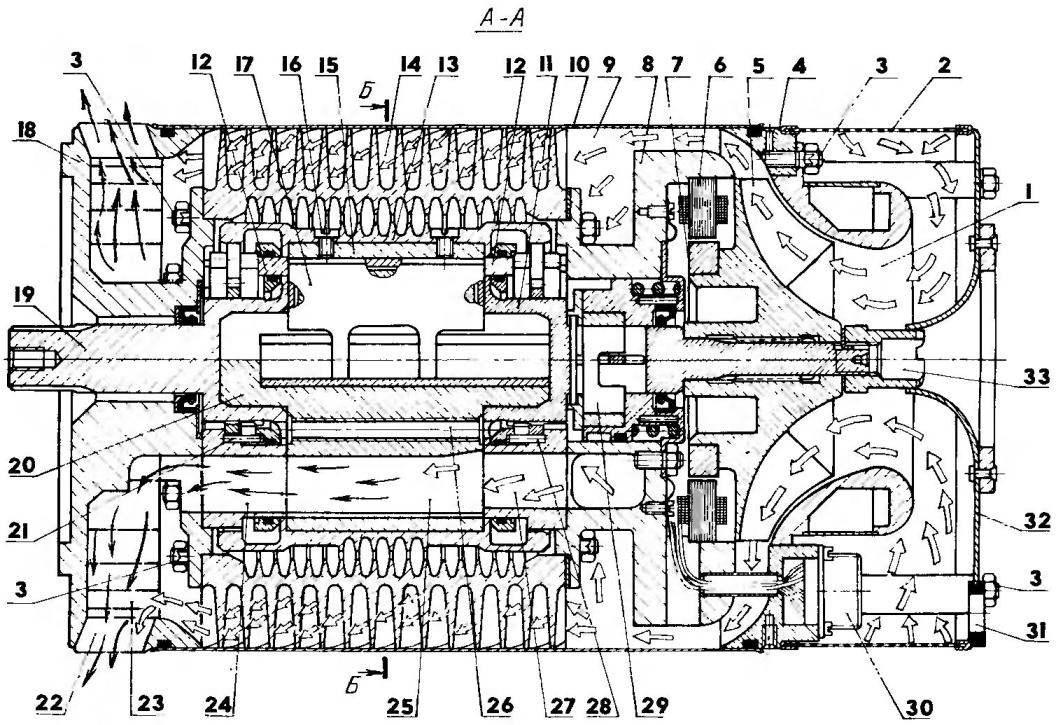 Компоновка модуль-двигателя МД15-70