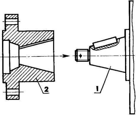 Переходник и его положение относительно двигателя УД-2