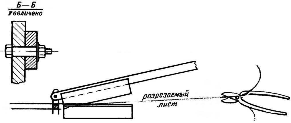Сравнительная схема коробления металлического листа при резке обычными и предлагаемыми ножницами
