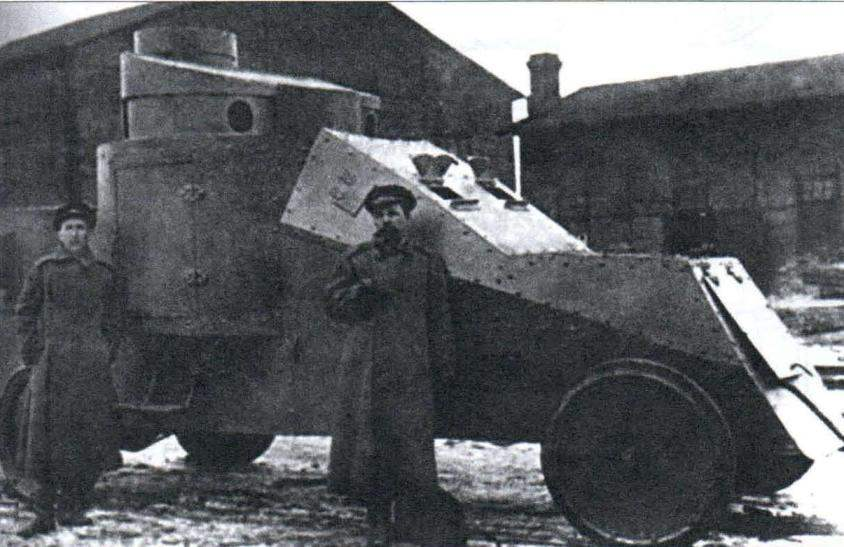 White TBC, забронированный по проекту штабс-капитана Мгеброва, 1915 г.