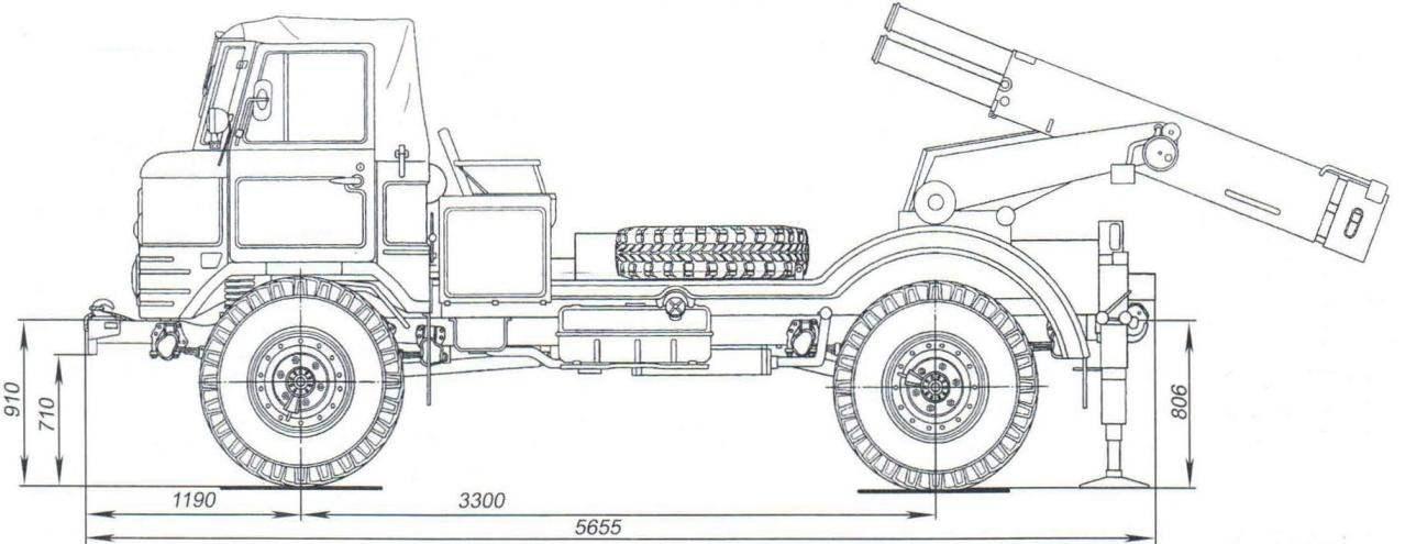 БМ-21 В на шасси ГАЗ-66Б