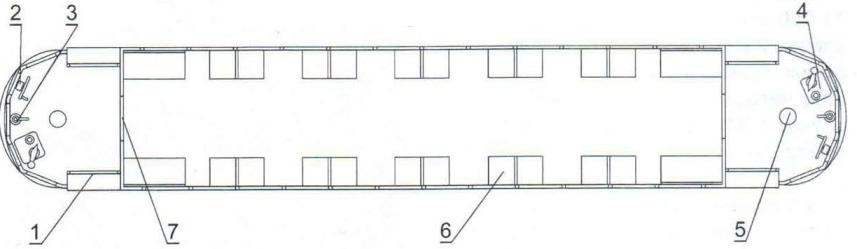 Компоновка моторного вагона КМ