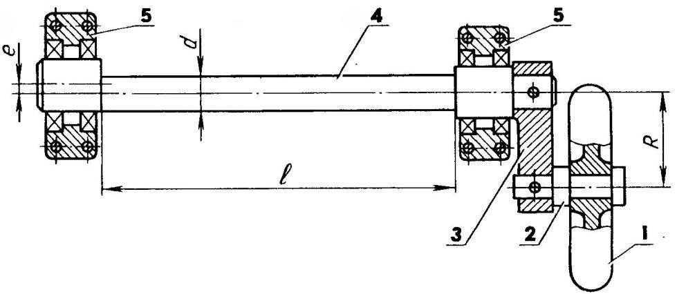 Моментная пружина (эксцентриковый вал) в роли упругого элемента торсионной подвески колеса