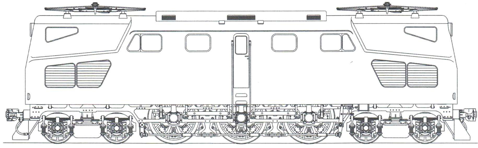 Модернизированный электровоз ПБ21, проект 1939 г.