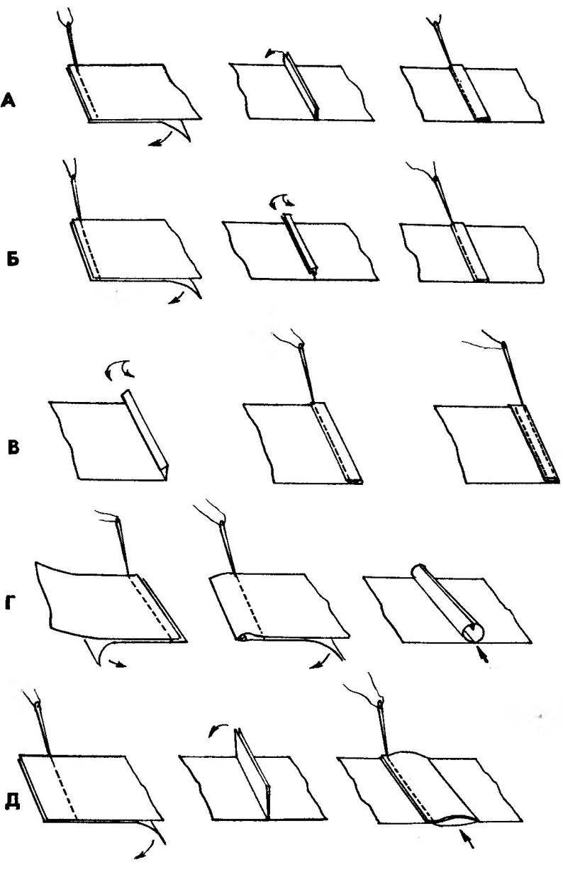 Основные способы шитья крыла