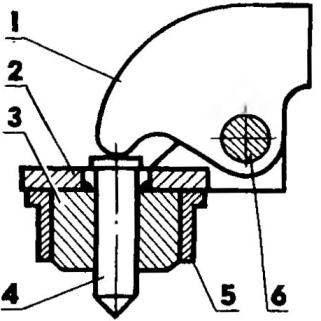 Устройство для бесшаблонной разметки отверстий