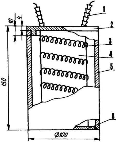 Рис. 3. Нагреватель-«самовар»