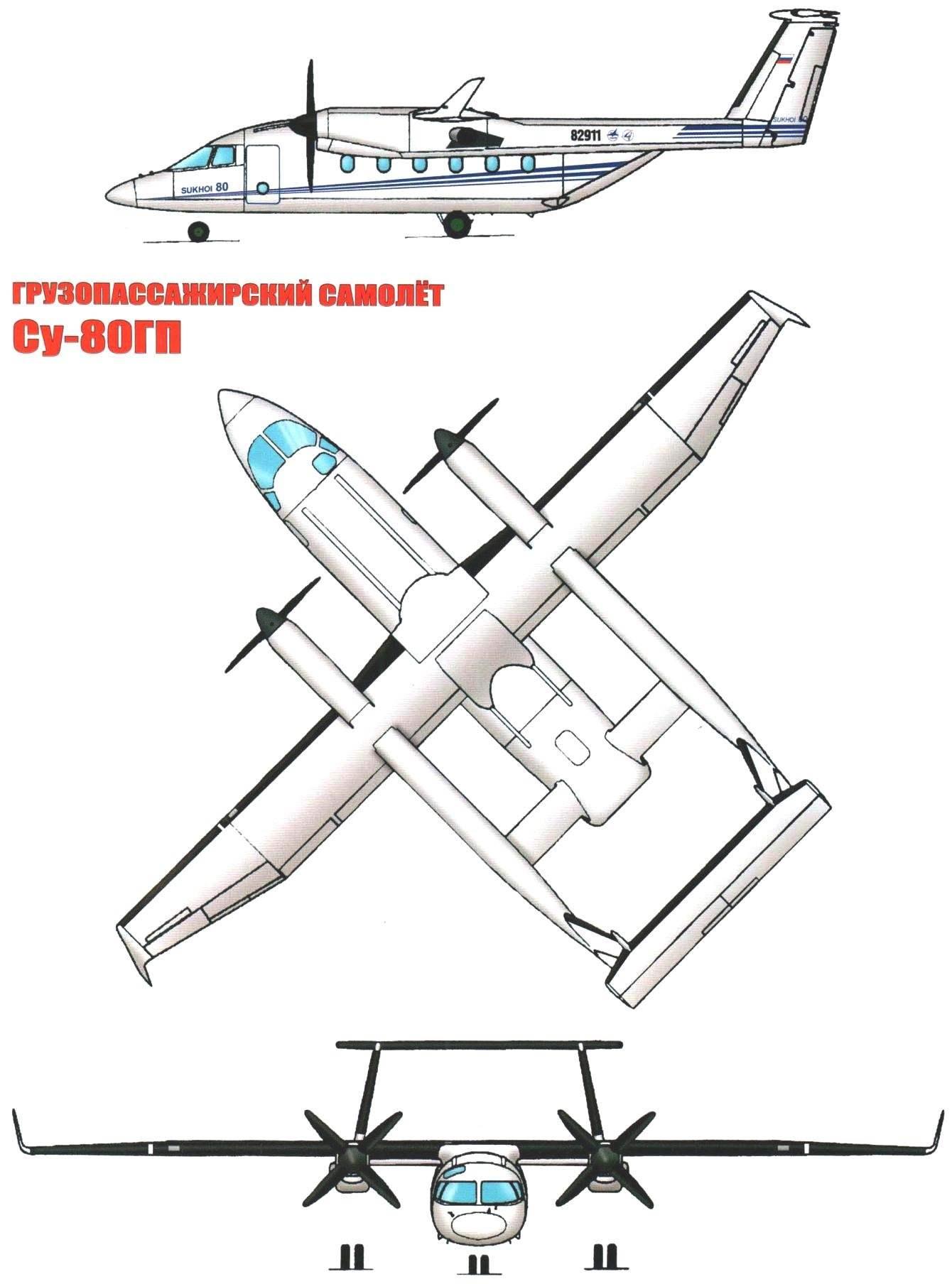 ГРУЗОПАССАЖИРСКИЙ САМОЛЁТ Су-80ГП