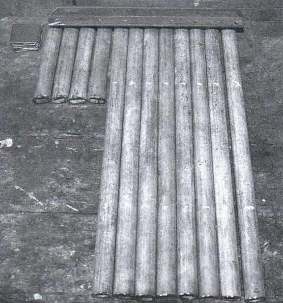 Заготовки элементов каркаса из оцинкованных труб d22