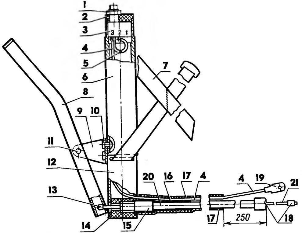 Рукоятка управления двигателем
