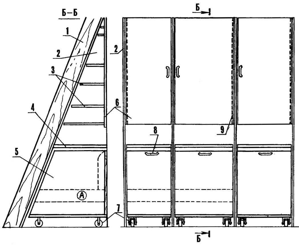 Шкаф-стенка мансарды