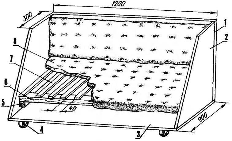 Вариант выдвижной нижней части шкафа — дивана